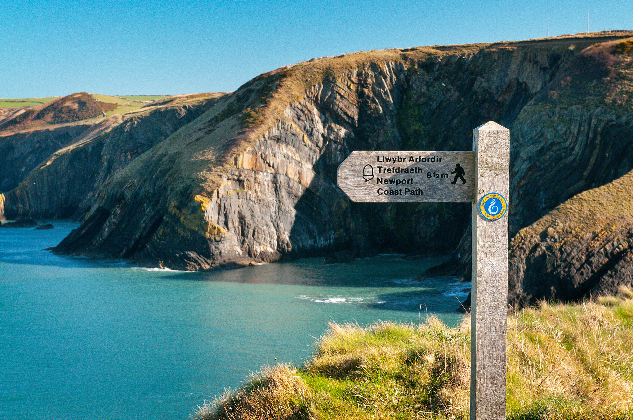 Coastal Path Sign Pembrokeshire South West Wales