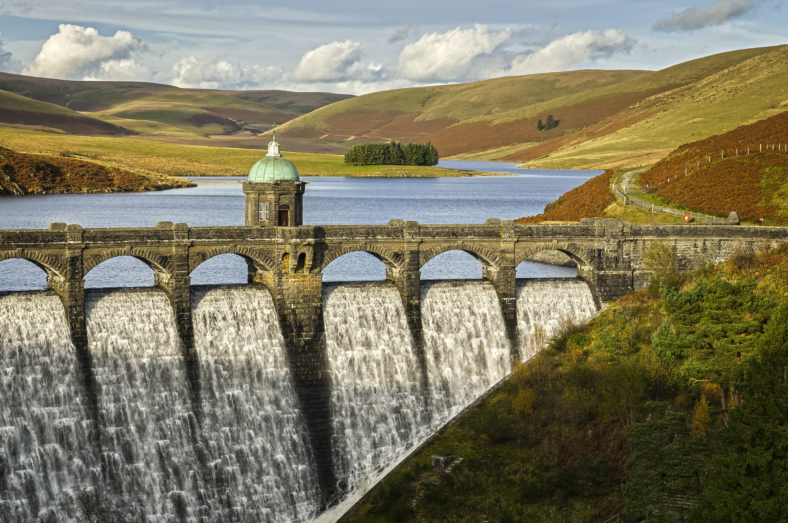 Craig Goch Dam and Reservoir Elan Valley in Mid Wales