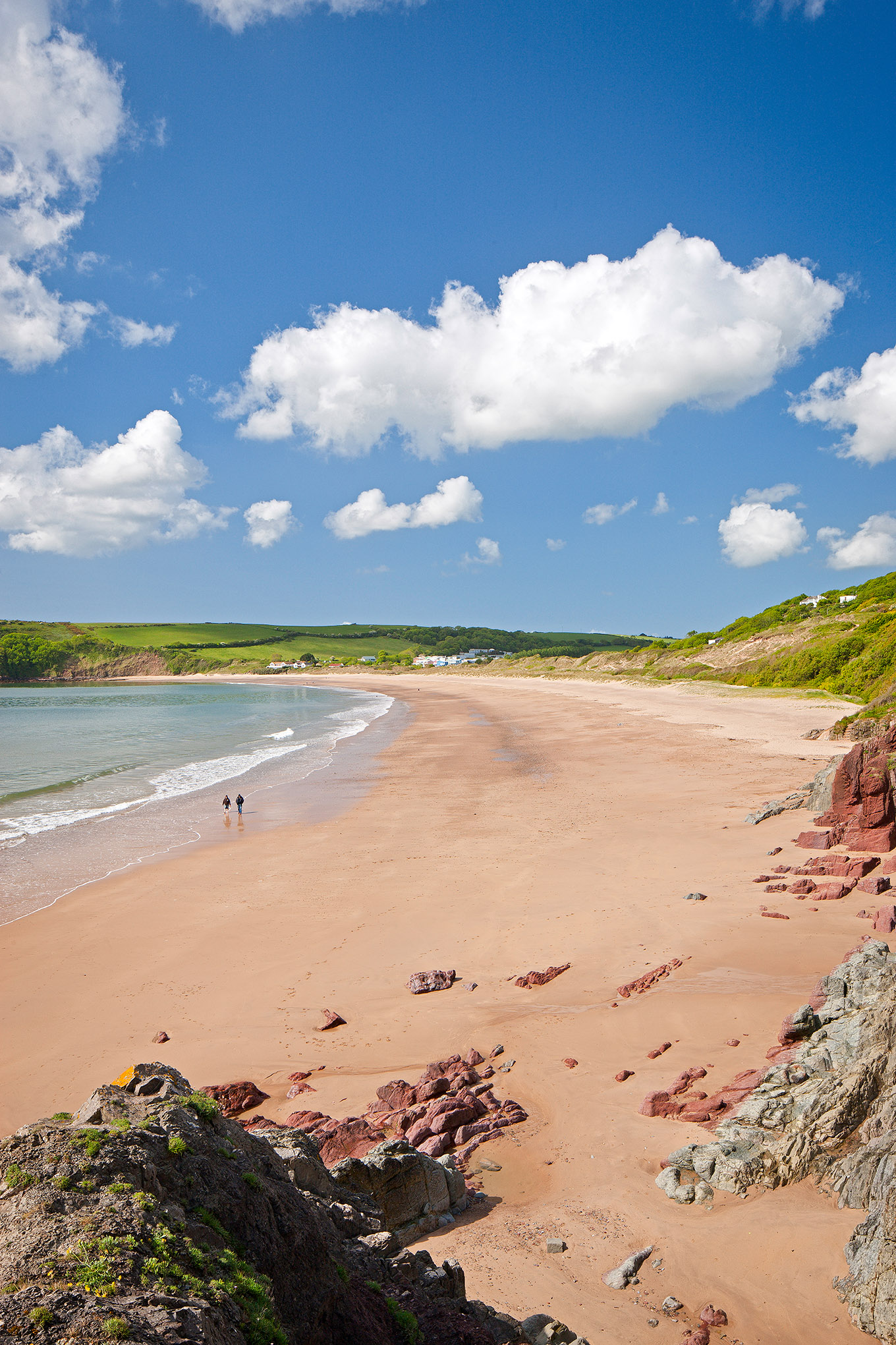 Freshwater East Beach in Pembrokeshire, South West Wales