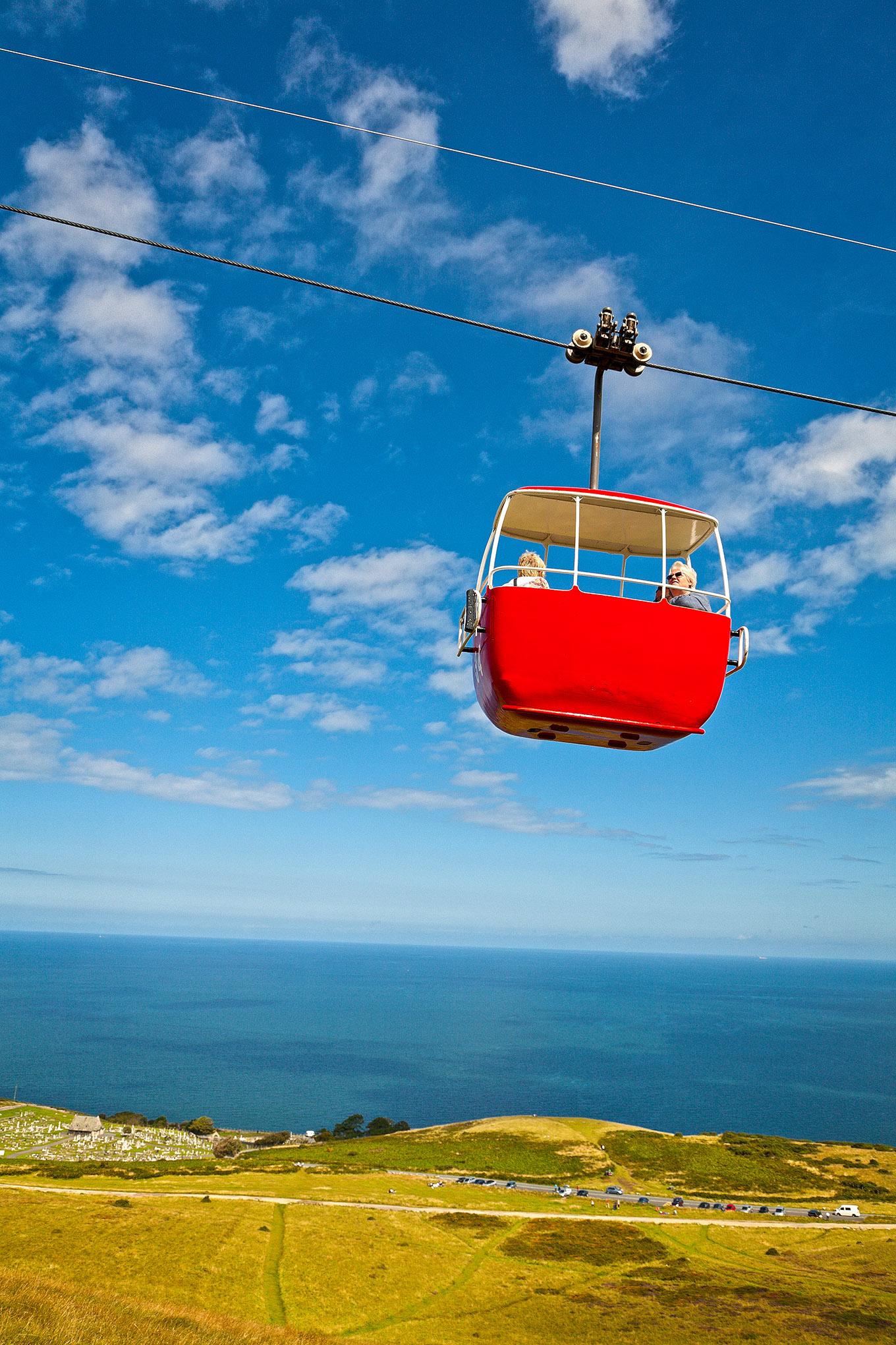 Red Cable Cab Great Orne Llandudno North Wales Coast