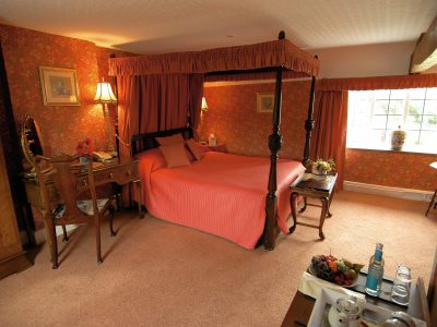 Four poster bed at Wilton Court Ross on Wye South Wales